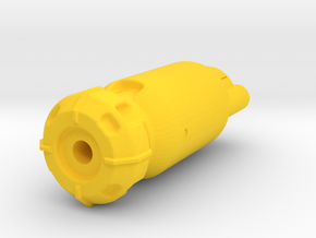 Fusion Core Airsoft Muzzle (14mm Self-Cutting) in Yellow Processed Versatile Plastic