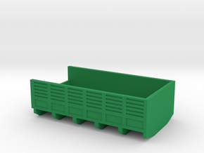 1/87 Scale M36 Truck Bed in Green Strong & Flexible Polished