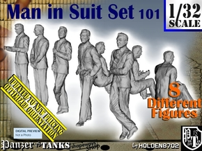 1/32 Man In Suit Set101 in White Natural Versatile Plastic