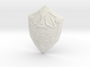Hylian Shield curved for display in White Natural Versatile Plastic