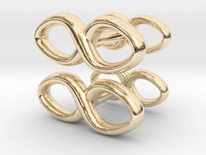 Cufflinks Infinity Symbol 2x in 14K Yellow Gold