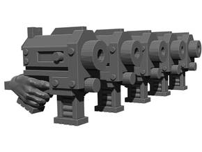 Slug Pistol Weapons Pack in Smooth Fine Detail Plastic