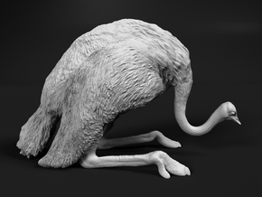 Ostrich 1:12 Guarding the Nest in White Natural Versatile Plastic
