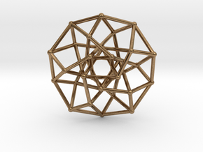 4D Archimedean Hyperform Toroidal Projection in Natural Brass