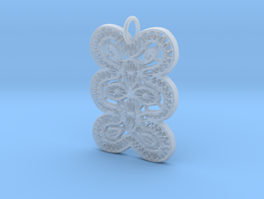 Lace Ornament Pendant Charm in Smooth Fine Detail Plastic