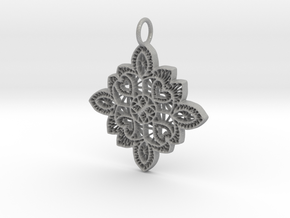 Lace Ornament Pendant Charm in Aluminum