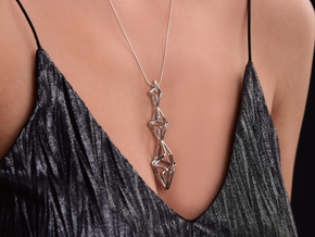 TRISTAR, Pendant. Big Bold Strong in Rhodium Plated Brass