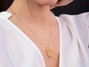 sWINGS Duo, Pendant. Pure Elegance. Perfect Comfor in 18k Gold Plated Brass