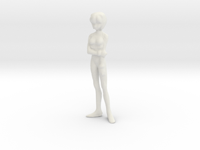 1/[24, 35] Pilot Girl in Plug Suit in White Natural Versatile Plastic: 1:24