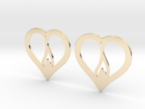 The Flame Hearts (precious metal earrings) in 14k Gold Plated Brass