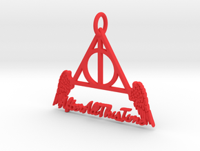 """All This Time"" Pendant in Red Processed Versatile Plastic"