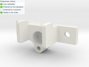 RC Servo holder type B in White Strong & Flexible