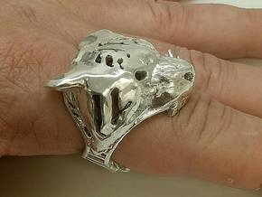 The Tiger Top Ring in Polished Silver