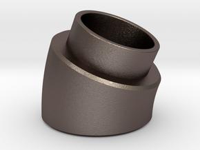 22.5 Deg Elbow in Polished Bronzed Silver Steel