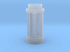 Crystal Cage in Smooth Fine Detail Plastic