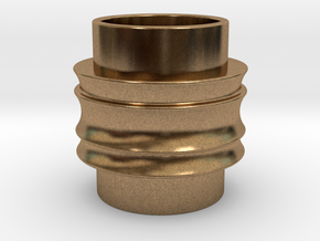 Male Adapter in Natural Brass