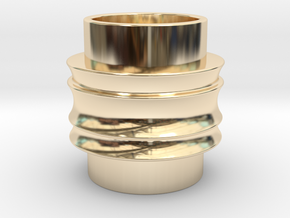 Male Adapter in 14K Yellow Gold