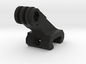GOPRO mount 22mm system in Black Natural Versatile Plastic