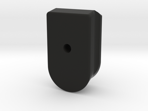 PPQ base plate extended + fill hole in Black Natural Versatile Plastic