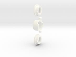 E-MAXX 1/8 Hybrid Differentials KIT (Rear) AL in White Processed Versatile Plastic