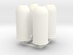 1/35 Trash Can set #2 MSP35-037 in White Processed Versatile Plastic