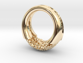 Cluster ring in 14K Yellow Gold: 10 / 61.5