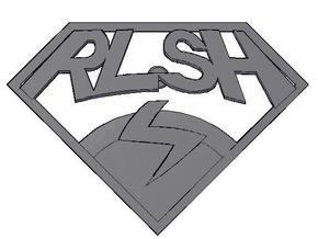 RLSH Badge in White Natural Versatile Plastic