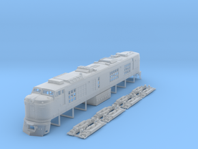 TT Scale Propane Turbine Locomotive in Smooth Fine Detail Plastic