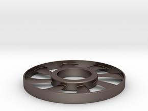 fidget spinner rim in Polished Bronzed Silver Steel: Small