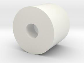 rot_magnet_holder in White Strong & Flexible