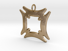 Hafinkra - Security and Safety Pendant in Polished Gold Steel