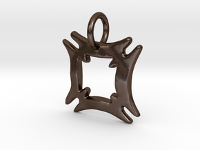 Hafinkra- Safety and Security Charms (individual) in Polished Bronze Steel