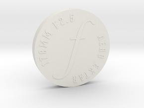 Lens Cap - Aero Ektar w/ Short Hood, v1 in White Natural Versatile Plastic