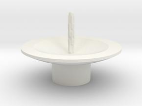 Zierbrunnen schalenförmig mit 1 Fontaine in White Natural Versatile Plastic