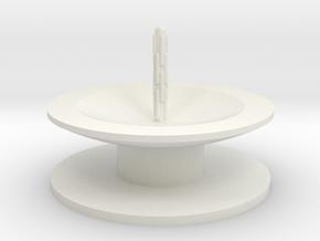 Zierbrunnen schalenförmig mit Bodenplatete mit 1 F in White Natural Versatile Plastic