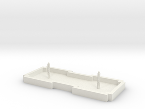 Zierbrunnen rechteckig 2 Fontainen in White Natural Versatile Plastic