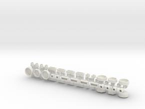 sh4192 - Stadtmöbelset 2 DDR 52 Teile 1:120 TT in White Natural Versatile Plastic