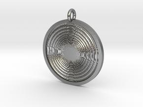 Vortex Pendant in Natural Silver