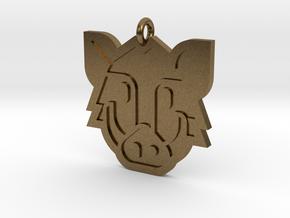 Boar Pendant in Natural Bronze