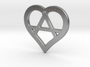 The Wild Heart (precious metal pendant) in Raw Silver