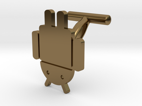 Droidbot Cufflinks in Polished Bronze