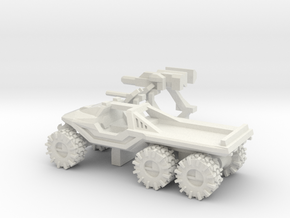 All-Terrain Vehicle 6x6 with weapons in White Natural Versatile Plastic