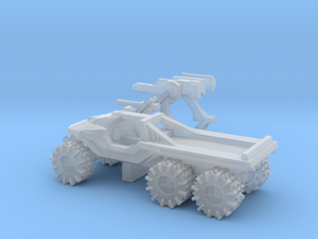 All-Terrain Vehicle 6x6 with weapons in Smooth Fine Detail Plastic