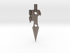 Transformers G1 Lightspeed Sword in Polished Bronzed Silver Steel
