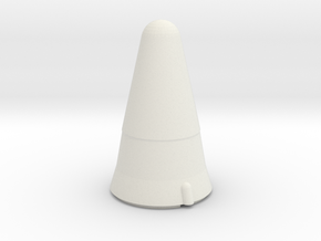 Titan II Warhead in White Natural Versatile Plastic
