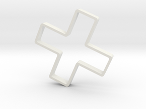 Letter X Cookie Cutter in White Natural Versatile Plastic