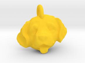 Labrador Puppy Pendant in Yellow Processed Versatile Plastic