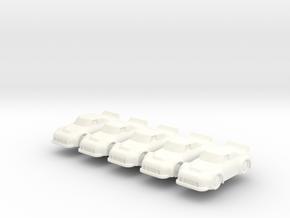 Miniature NASCAR 20mm (5 pcs) in White Processed Versatile Plastic
