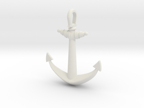 Ship anchor in White Natural Versatile Plastic