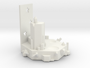 Crystal Base 2 in White Natural Versatile Plastic